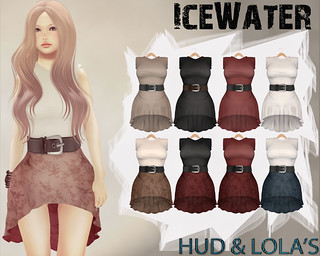IceWater Kayla Mesh Belted dress