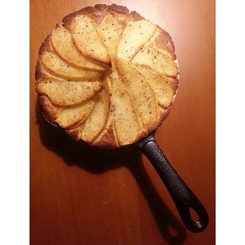 20140314 肉桂焦糖蘋果鬆糕 出爐  #葛蘿的餐桌