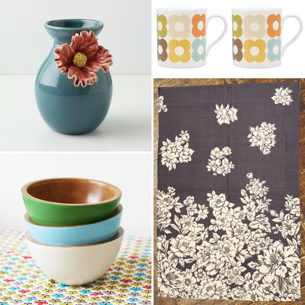 Spruce up your home for under £50 with these aqua and mustard picks! Curated by Emma Lamb