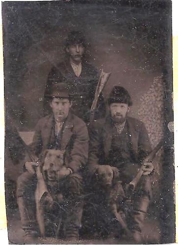 Dogs & Guns Tintype