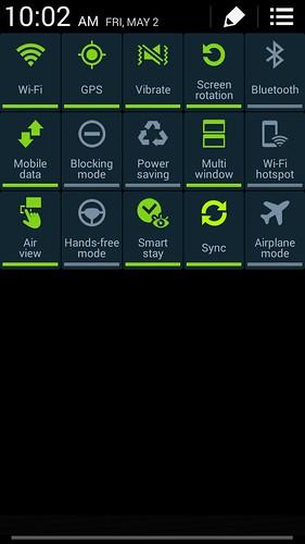 QuickSettings ของ Samsung Galaxy Note 3 Neo