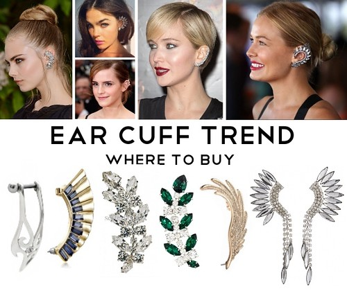 Ear Cuff Trend, Ear Cuffs, Simple Ear Cuffs, Rhinestone Ear Cuffs