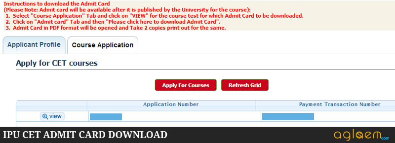 Download IPU CET Admit Card