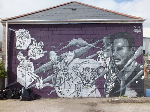 Joy, Ekstraternek and Colour Doomed collab in Cardiff.