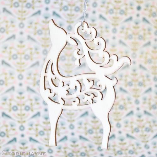 Lasercut deer ornament