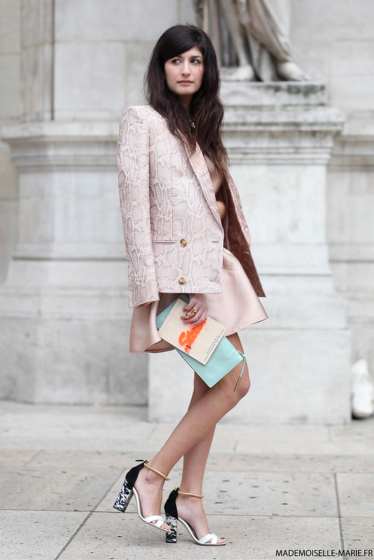 Valentina Siragusa at Paris fashion week