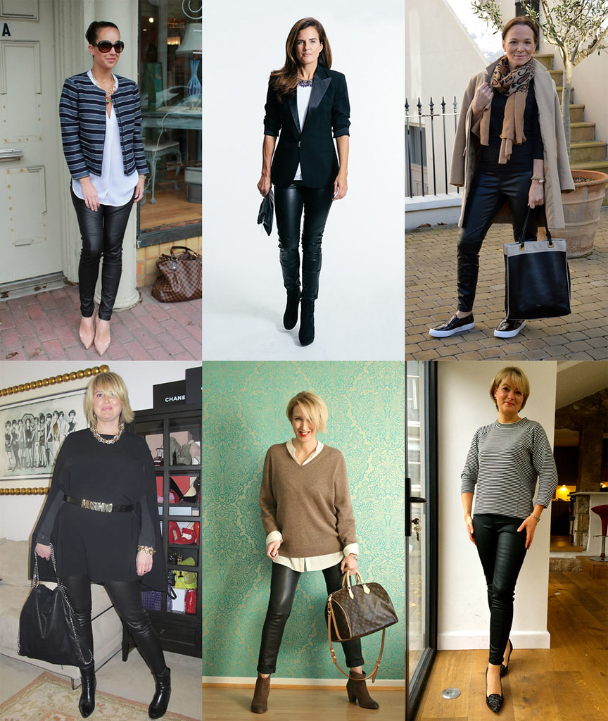 Over 40 bloggers in leather pants