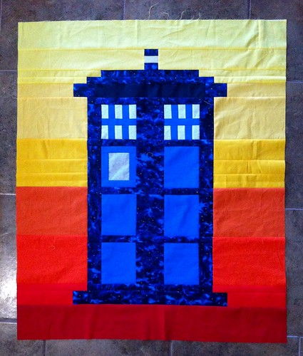 Tardis quilt front for Dr. Who baby shower gift. Does it need a border?