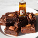 Miso bourbon pecan brownies