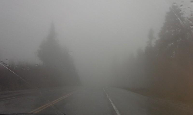 Seymour Mountain fog
