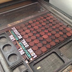Italian type high + 320g perfect fit! #letterpress #woodtype #howlarts #activistartfair