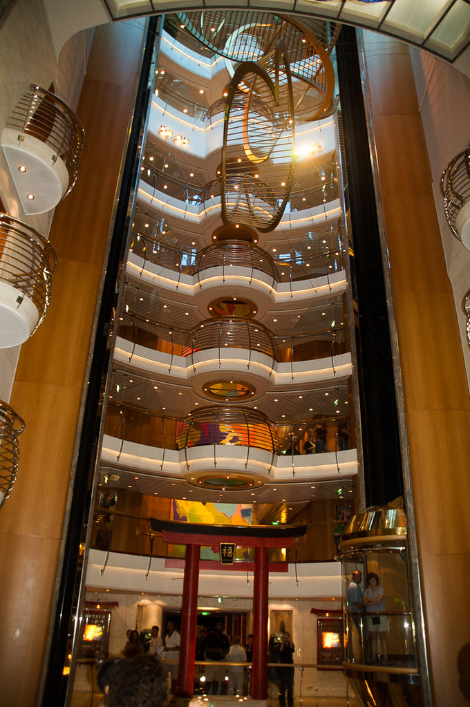 Atrium area of the Adventure of the Seas