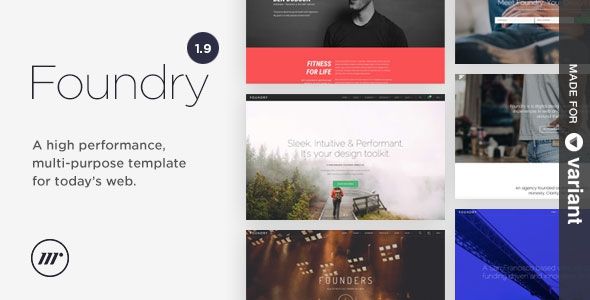 Foundry v1.9.5.1 - Multipurpose HTML + Variant Page Builder