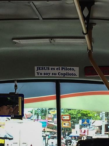 """En route pour Tortuguero: """"Jésus est le pilote, Je suis son copilote."""""""