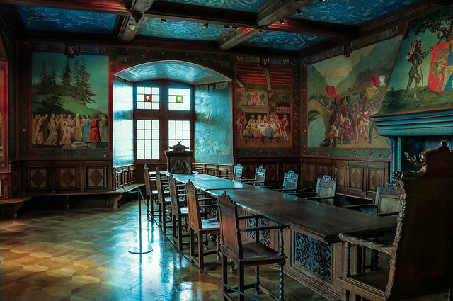 Salle des Chevaliers-Gruyeres-Schloss Greyerz