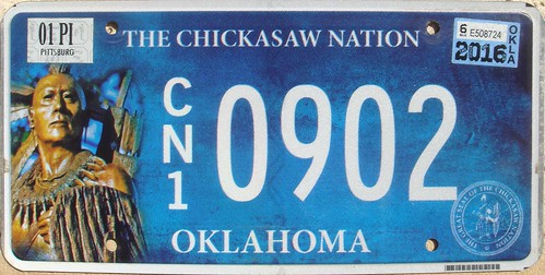 chickasaw chickasawnation indian license plate indiantribeslicenseplates triballicenseplates licenseplate matricula placa patente kennzeichen nummerschild targa targhe plaqueimmatriculation plaque numbertag tribe tribal nation native band nativeamericanindians