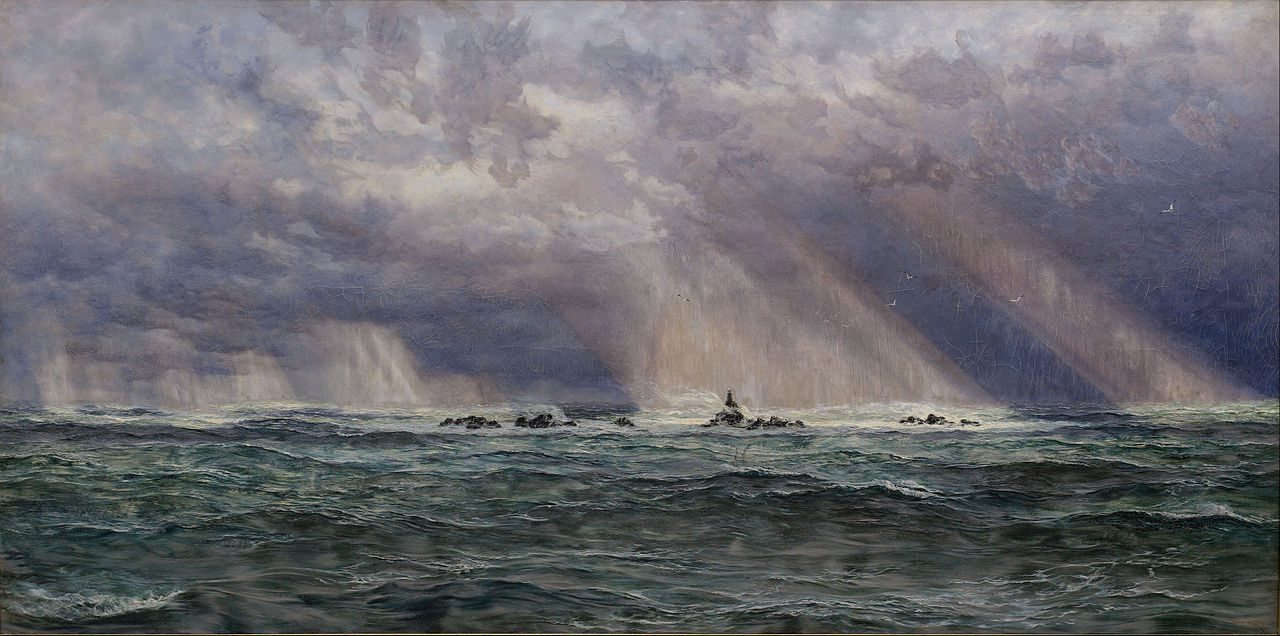 John Brett - A North-West Gale off the Longships Lighthouse, 1902