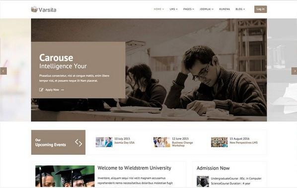 Varsita v2.3 - Education Joomla 3.x Template with LMS