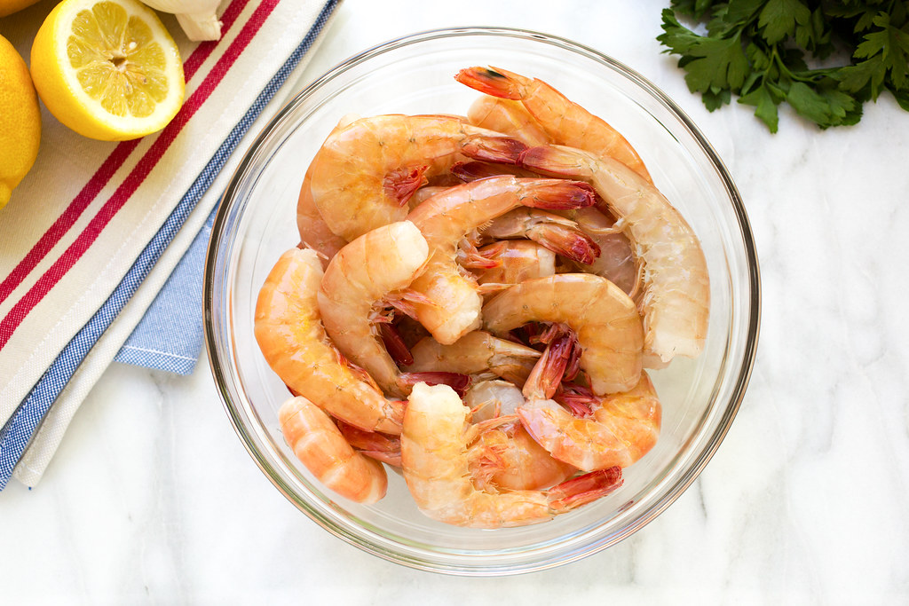 raw shrimp in bowl