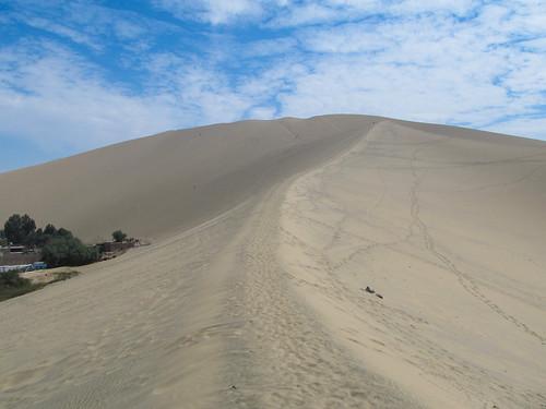 Huacachina: et c'est parti pour monter tout en haut des dunes !