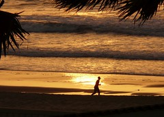 Sunset with Jogger