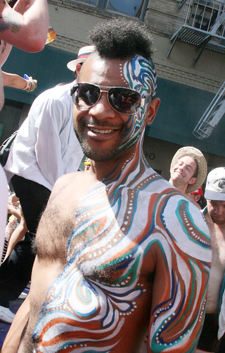 Man with Body Painting