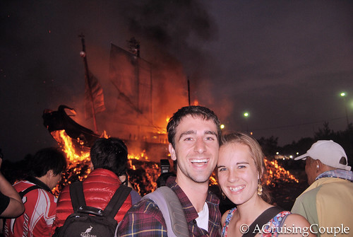 Burning Boat Festival Taiwan A Cruising Couple
