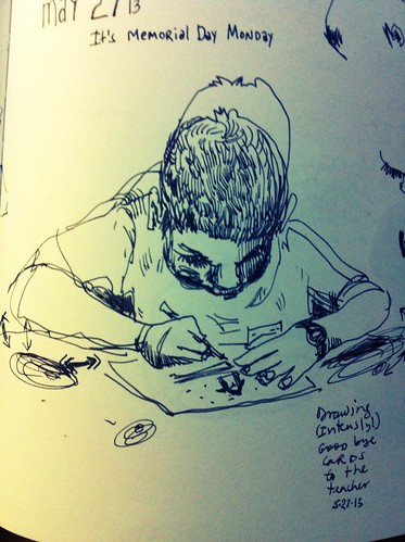 May 2013: Drawing a Card by apple-pine