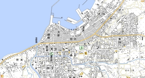 市街地の大きな町と小さな市(国土地理院地形図で比較): 三日 ...