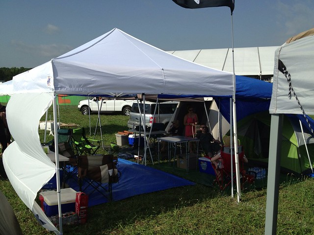 Bonnaroo 2013- Our VIP camping area