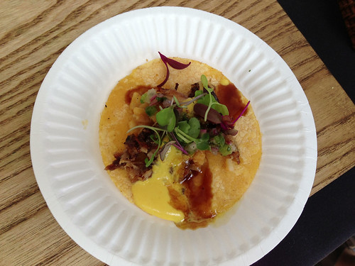 Mo-Chica/Picca/Paiche: Pork Belly Chicharron Taco