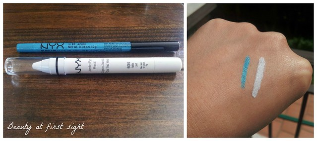 NYX jumbo pencil milk and pencil azure