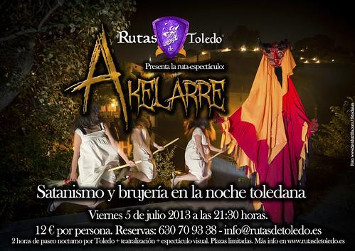 """Ruta especial  """"Akelarre: satanismo y brujería en la noche toledana"""""""