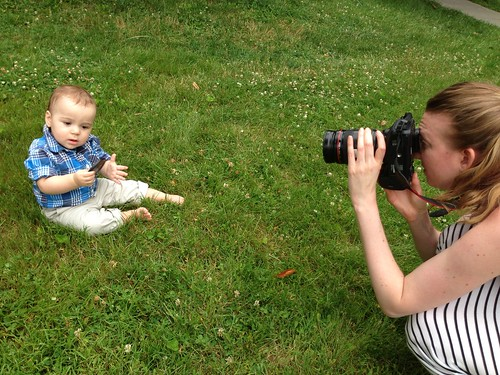 Beth Photographing Elliott