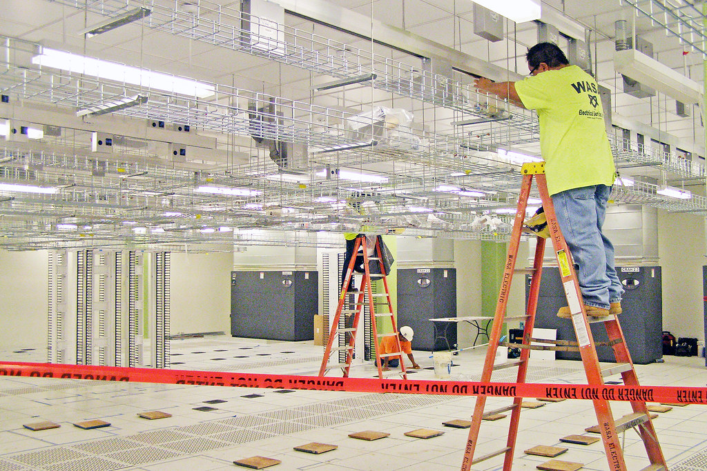 Information Technology Center | Installation of cabinets in
