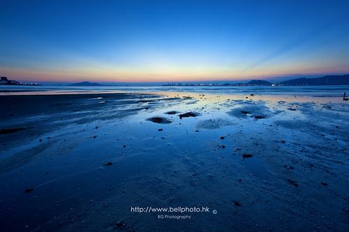 sunset hk sun hongkong twilight shallow 香港 日落 風景 newterritories afterglow 紅樹林 paknai 晚霞 白泥 shallowwater mangroove 新界 黃昏 流浮山 淺灘