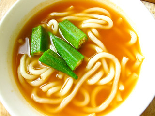 IMG_1720 Lunch - Udon and lady fingers