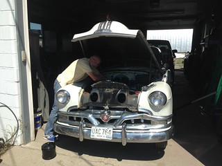 Under the hood of the 1951 Pontiac