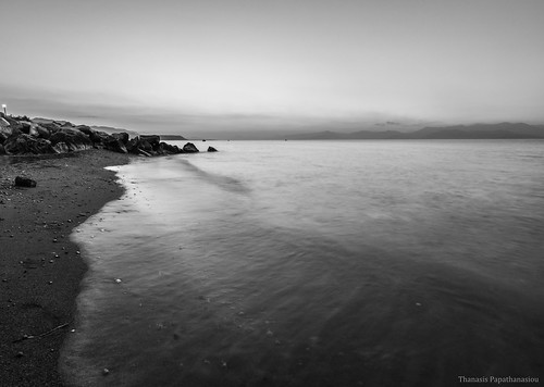 sea bw seascape blackwhite rocks dusk greece peloponnese peloponnisos nd8 derveni