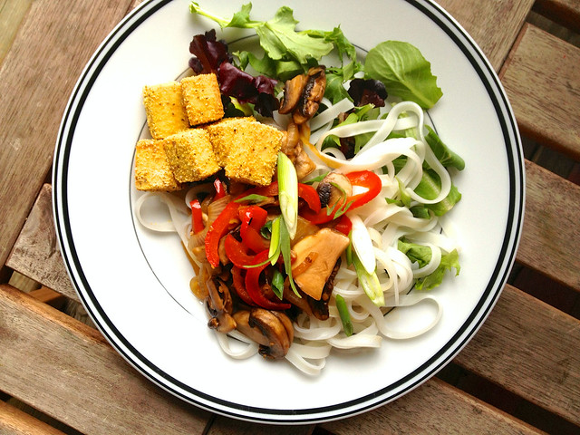Crispy, Baked Salt & Pepper Tofu