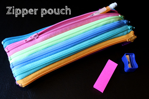 Zipper pouch tutorial by Craft E Magee