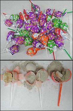 heroin smuggled in lollipops
