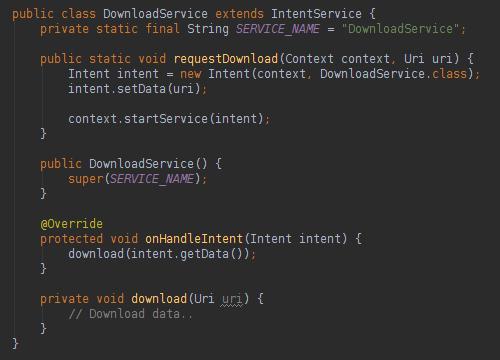 Android后台服务之IntentService