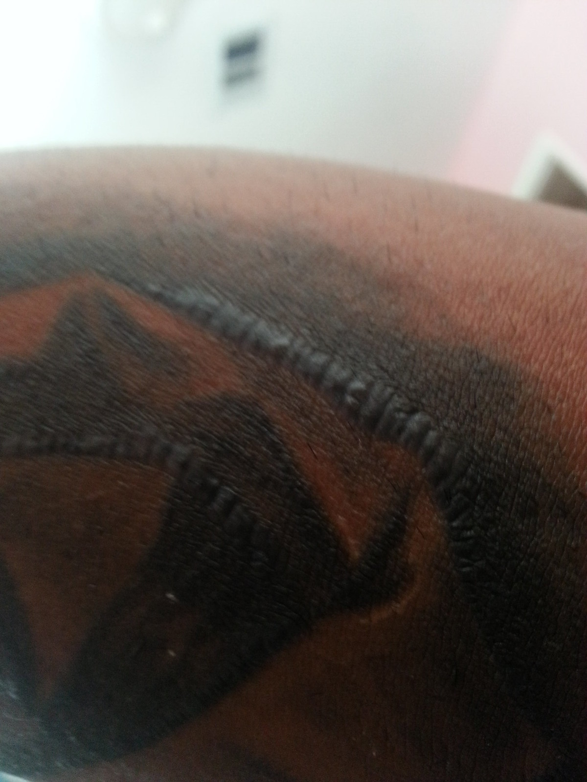 1 week old tattoo scab fell off left scar pic inside for Raised tattoo after healing