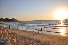 Central Tel Aviv beaches and Jaffa on the background