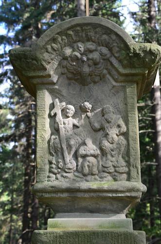 Jesusdarstellung in Stein gehauen