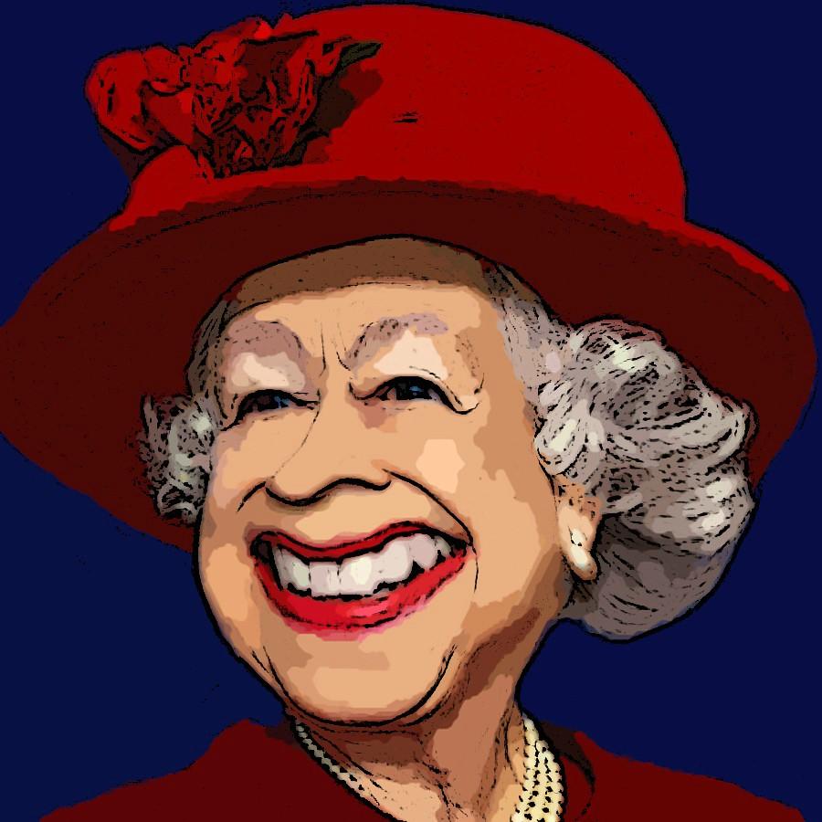 Queen Elizabeth Ii Digital Caricature Pic Monkey Bfunk Bob