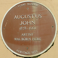 Photo of Augustus John brown plaque