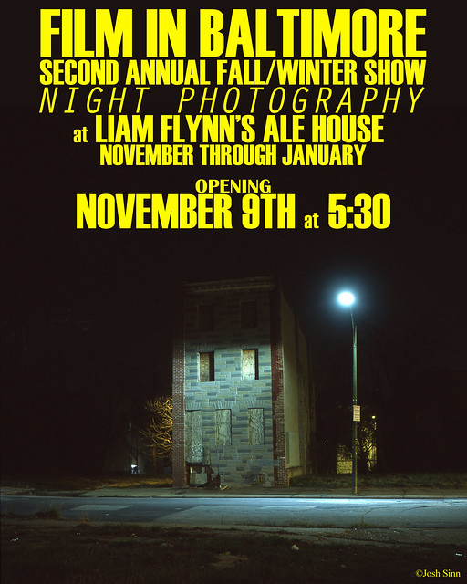 Film in Baltimore's Second Annual Fall/Winter Show - Night Photography