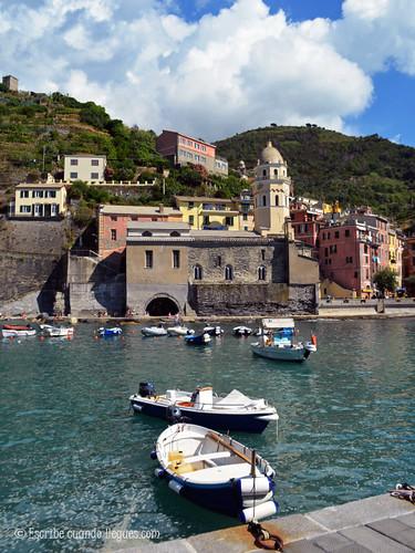 Iglesia de Vernazza, en Cinque Terre